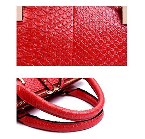 LAIDAYE Damen Handtasche Mode Handtaschen Red