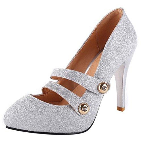 COOLCEPT Women Geschlossene Knochelriemchen Pumps Schuhe