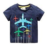 Zetiy Kleinkind Kleine Jungen Chromatische Flugzeug T-Shirts Tops (2-3 Jahre, Blau)