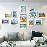 HETAO Kreativ Fotowand Massivholz Einfach Modern Dekoration 11 Kombination Fotorahmen Hängenden Wand Wohnzimmer Restaurant 139 * 73cm , f Haus Dekoration