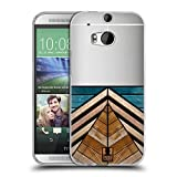 Head Case Designs Spiegel Sammlung Holz Déco Soft Gel Hülle für HTC One M8 / M8 Dual SIM