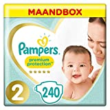 Pampers Premium Protection Maat 2,4-8kg, 240 Luiers, Maandbox
