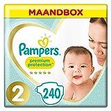 Pampers Premium Protection Pannolini taglia 2, 240 strati, (4-8 kg) pacchetto mensile