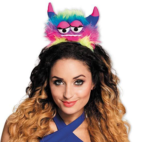 Für Damen Kostüm Niedliche - NET TOYS Niedlicher Monster-Haarreif | Bunt | Originelles Damen-Kostüm-Zubehör Haarschmuck herzige Bestie | Perfekt geeignet für Mottoparty & Fasching