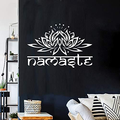ter Wall-Aufkleber Lotus Sticker Foganesa Wohnzimmer-Schlafzimmer Blumenbild Einfach Elegant Warm Romantisches, Komfortables PVC weiß ()
