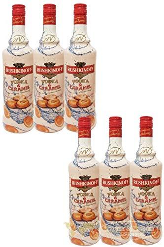 Rushkinoff Vodka & Caramelo, 6er Pack (6 x 1,0 l)