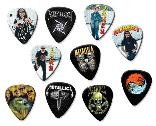 Metallica Classic Set Of 10 Loose Chitarra Pick Plettro Plettris Plettro Plettri