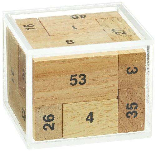 Philos 6276 - 100er Kiste, Würfel, 9 Puzzle Teile, Knobelspiel
