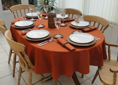 THE TABLECLOTH COMPANY 139,7x 198,1cm Burnt Orange Weihnachten Tischdecke, oval (6-Sitzer)