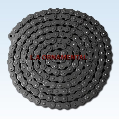 Single Strand Roller Chain (Chain for Gate Openers, Sliding Gate Operator Chain # 50 use by most Slide Gate Openers Roller Chain - Single Strand Spring Connecting Link, Riveted, Carbon Steel for Go Kart, Roller Chain Motorized Bike Chain Kit by L.A. Ornamental)