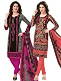 Salwar Studio Women's Pack of 2 Syntheti...