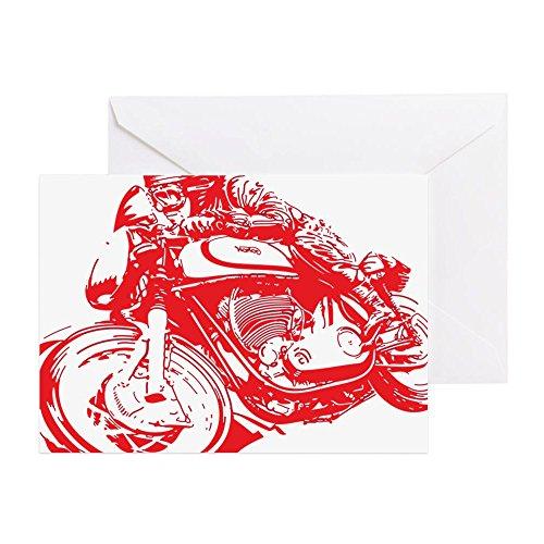 CafePress-Norton Cafe Racer-Grußkarte, Note Karte, Geburtstagskarte, innen blanko, matt (Norton-karte)