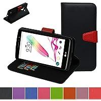 LG G4s Custodia,Mama Mouth Portafoglio custodia in PU di cuoio pelle con supporto carte di credito in Piedi caso Case per LG G4s H735 H731 / H735L G4 Beat LTE,Nero