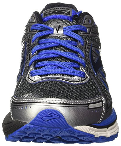 Brooks Adrenaline Gts 17, Chaussures de Course Homme Gris (Anthracite/electricbrooksblue/silver)
