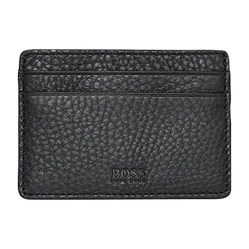 Hugo Boss Black Traveller Leather Card Holder BLACK One Size