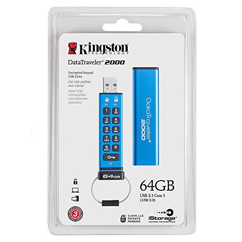Kingston DataTraveler 2000 USB 3.0 64GB Pen Drive (Blue)