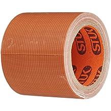 Stuk wc505br12–12–48mm x 4,5m impermeable–Bandeja de rollo de cinta de tela (12unidades), color marrón