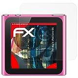 atFoliX Panzerschutzfolie für Apple iPod Nano 6G Panzerfolie - 3 x FX-Shock-Antireflex blendfreie stoßabsorbierende Displayschutzfolie