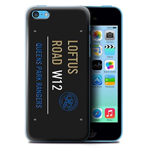 Offiziell Queens Park Rangers FC Hülle / Case für Apple iPhone 5C / Pack 8pcs Muster / QPR Loftus Road Zeichen Kollektion Schwarz/Gold