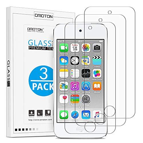 OMOTON [3 Stück] Panzerglas für iPod Touch 7 2019 (Neuestes Modell) / iPod Touch 6 und iPod Touch 5,9H Härte,Anti-Kratzen,Anti-Öl,Anti-Bläschen