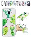 E-Mandala Samsung Galaxy A5 2016 Hülle Ultra Dünn Slim Durchsichtig Silikon Schutzhülle Handy Tasche Etui Handyhülle Transparent mit Muster - Kaktus