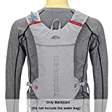 HENDTOR 5L Running Hydration Backpack Femmes Hommes Jogging Sport Sac À Dos, Sac Trail Marathon, Pas De Sac d'eau Gray Only Backpack