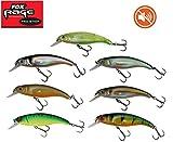 Fox Rage Slick Stick Wobbler SR 9cm 15g Silent, Raubfisch, keine Geräusche, Flachläufer, 9cm, Schleppfischen, Powerpoint Drillinge, für alle Raubfische, Farbe:Hot Tiger