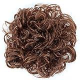 Prettyshop XXXL Haarteil Haargummi Hochsteckfrisuren, VOLUMINÖS, gelockter, unordentlicher Dutt mittel braun #30/33 HW4