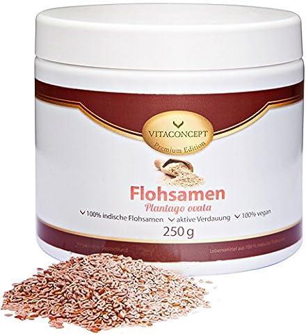 Premium Flohsamen 250 g (Plantago ovata) - 100% indischer Herkunft