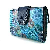 Cartera para mujer, hecho a mano en España, marca casanova, hecha en piel de vacuno, Ref. 22514 Azul