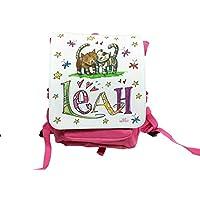 Kindergartenrucksack mit Namen, Katzen, Rosirosinchen, personalisierter Kinderrucksack