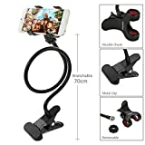 #5: Photron MHM55 [METAL] High Quality Upgraded Flexible Long Arm Universal Mobile Phone Holder Lazy Bracket with Clamping Base