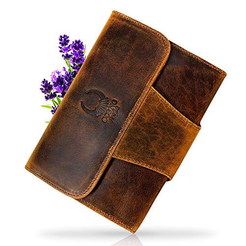 Portefeuille de voyage en cuir Etui en cuir pour iPad Mini 1 2 3 4 Case Cover Étui pour tablette 7,9 Étui en cuir Sleeve Homme Femme Organiseur Étui en cuir marron vintage Corno D oro ip09
