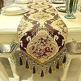 Tischfahne - Tischdecke, Stoff Home Dekoration, American European Style, TV-Schrank Couchtisch Tischdecke Einfache, Moderne Minimalistische Mode Tischdecke ( Farbe : Karmesinrot , größe : 35x220cm )