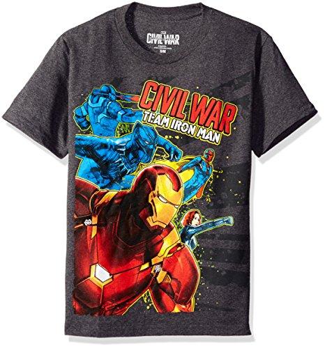 Marvel Boys' Big Boys' You Cannot Run T-Shirt, Charcoal Heather, X-Large (Bekleidung Kids Charcoal Big)