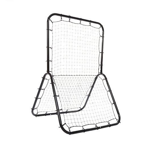 Rebounder Netz, Baseball Rebounder Training, Multi-Sport Pitch Rückwand mit Zwei Verschiedene Netz und Einstellbare Ziel (Lacrosse-netze Ziele)