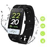 MTJJ Montre Connectée Femmes Homme Smartwatch Fitness Tracker d'Activité avec Cardiofréquencemètres Moniteur de Sommeil,Réveil,Notifications,Bluetooth Podomètre Étanche IP67 pour iOS Android