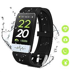 MTJJ Fitness Activity Tracker Smart Watch con Cardiofrequenzimetro Contapassi Calorie Sportivo Monitor del Sonno IP67 Impermeabile Orologio per Donna Uomo Bambino con iOS Android