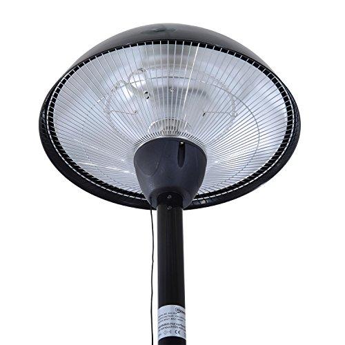 Outsunny® Elektrischer Terrassenstrahler Heizstrahler Infrarotstrahler schwarz/silber 1500W/2000W Decken/Wandmontage/Standheizstrahler (Modell3); - 5