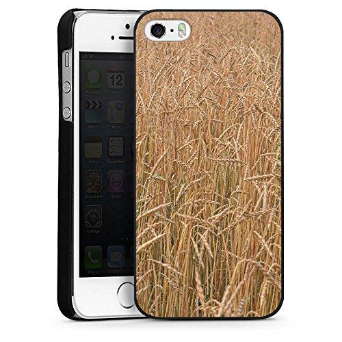 Apple iPhone 4 Housse Étui Silicone Coque Protection Champ de blé Paysage Champ CasDur noir