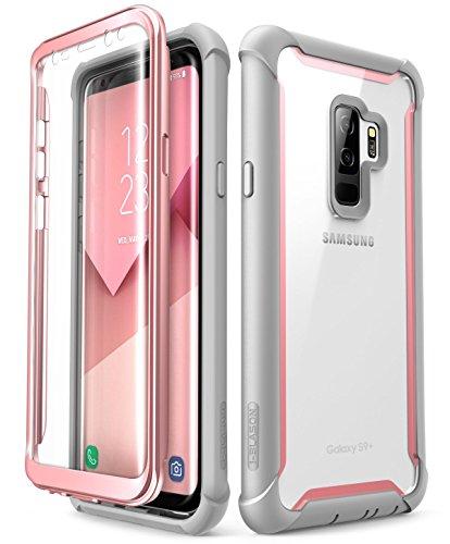 i-Blason Samsung Galaxy S9 Plus Hülle [Ares] 360 Grad Handyhülle Bumper Case Robust Schutzhülle Clear Cover, Pink -