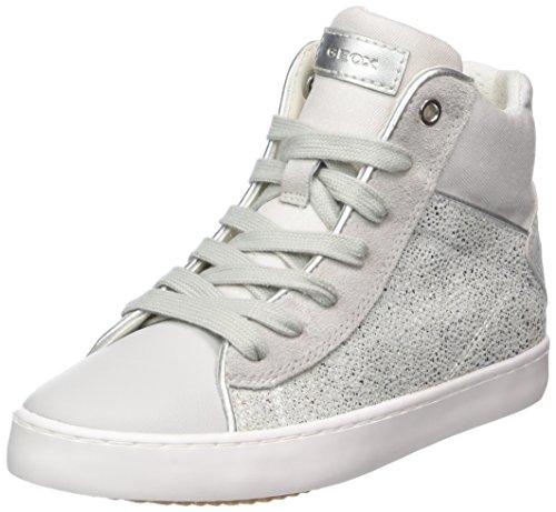 (Geox Mädchen J Kilwi Girl H Hohe Sneaker, Silber (Lt Grey/Silver), 34 EU)