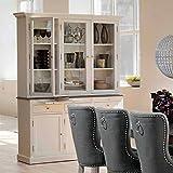 Pharao24 Buffetschrank in Weiß Grau aus Kiefer Landhaus Design
