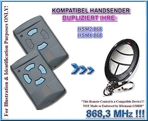 868.3Mhz Clones. Ferretería para puertas de garaje Garador HSM2/HSM4mando a distancia compatible transmisor de repuesto Ferretería