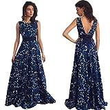 11833e762e66 Vestito da Donna Eleganti,Kword Sexy Donne Abito Scollato,Floreale Lungo  Prom Formale Vestito