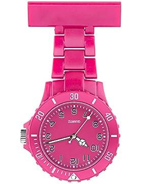 Taffstyle Krankenschwester-Uhr mit Nadel - Pink