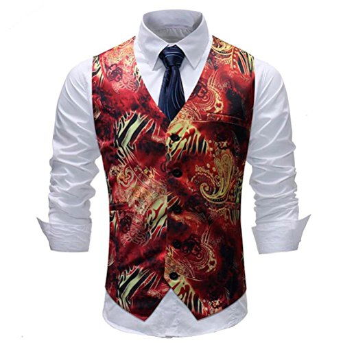 Männer British Suit Weste Venmo Casual Printed Sleeveless Mantel Sakkos Westen Übergangsjacke Sweatjacke Sport & Freizeit Sportbekleidung Streetwear Sweatshirts Kapuzenpullover (Multicolor, XXXXXL)