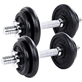 Songmics Dumbbell Weight Set Cast Iron 20 kg SYL20T