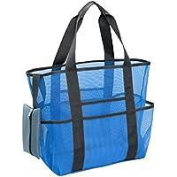 Tbest Bolsa de Sandbeach, Bolsa de Almacenamiento de Sandbeach, Suministros de Vacaciones de Verano Sandbeach Hot Spring Wash Mesh Net Make Up Storage Bag(Sandbeach Bag)