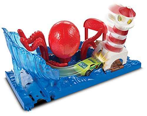 Hot Wheels City Pista de coches El ataque del pulpo (Mattel FNP61)
